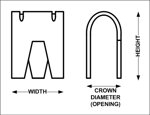 Cage Clip Diagram - for the Small HD Cage Clip Pliers